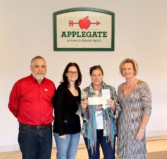 Applegate presents $10,000 donation to Rolling Harvest Food Rescue
